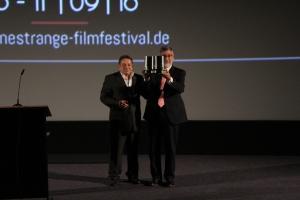 John Landis bei der Übergabe des Cinestrange-Awards
