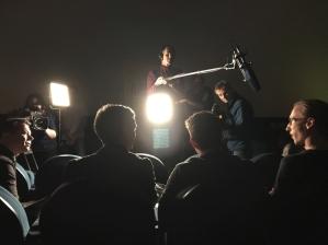 Der Moderator Markus Kavka führt ein Interview auf der Genrenale © Michael Kaltenecker