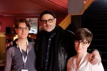 Alexandra Schmidt (Festivalleitung), Denis Côté (Regisseur), Karolin Kramheller (Festivalleitung),