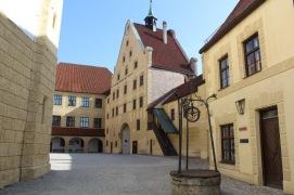 Der pittoreske Innenhof der Burg Trausnitz