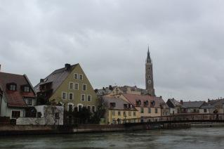 Ab dem 3. Tag gab es perfektes Kinowetter in Landshut (hier: Blick auf die Innenstadt mit St. Martinskirche)