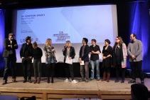 Alle Juroren auf der Bühne (drei Jurys für die acht Jury-Awards)