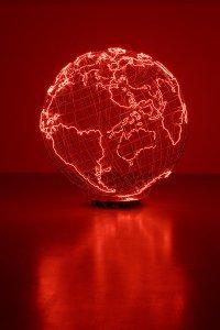 Mona Hatoum: Hot Spot III (2009, Sammlung Goetz, München)