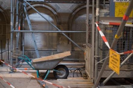Baustelle im Bamberger Dom