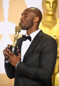 Kobe Bryant, winner of the Best Animated Short Film award for 'Dear Basketball,'