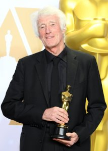 Roger Deakins winner of the Best Cinematography for 'Blade Runner'