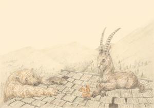 """Ausschnitt aus dem Kinderbuch """"Herr Eichhorn und der König des Waldes"""""""